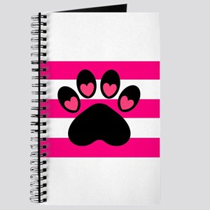 Paw Print on Hot Pink Journal
