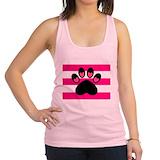 Hot pink dog Womens Racerback Tanktop