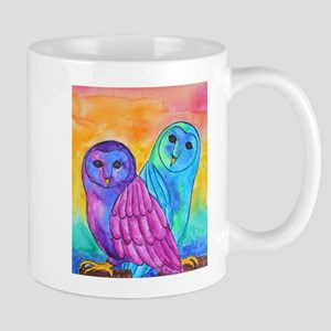 Rainbow Owls by Vanessa Curtis Mugs