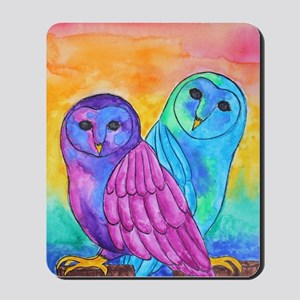 Rainbow Owls By Vanessa Curtis Mousepad