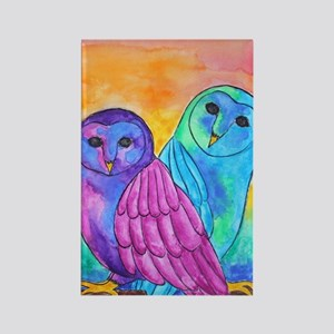 Rainbow Owls By Vanessa Curtis Magnets