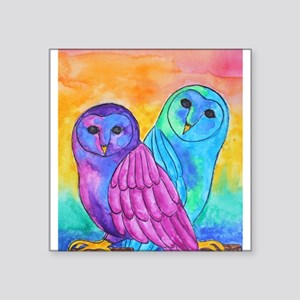 Rainbow Owls by Vanessa Curtis Sticker