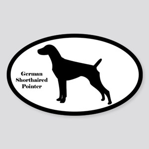 German Shorthaired Pointer Oval Silhouette Sticker