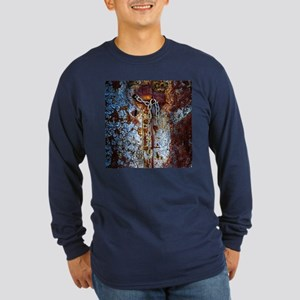 Chained Rust Long Sleeve Dark T-Shirt