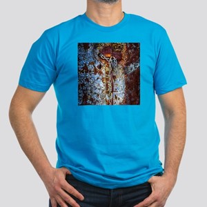 Chained Rust Men's Fitted T-Shirt (dark)