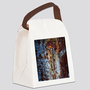 Chained Rust Canvas Lunch Bag