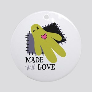 Made With Love Ornament (Round)