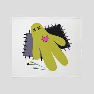 Voodoo Doll Throw Blanket