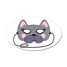Cat Mask Wall Decal