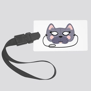 Cat Mask Luggage Tag