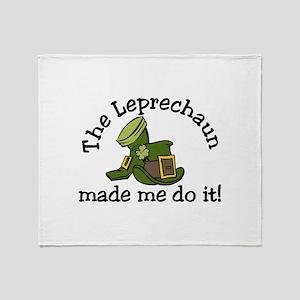 Leprechaun Made Me Throw Blanket
