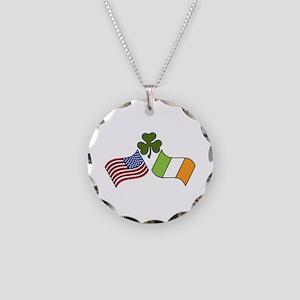 American Irish Flag Necklace