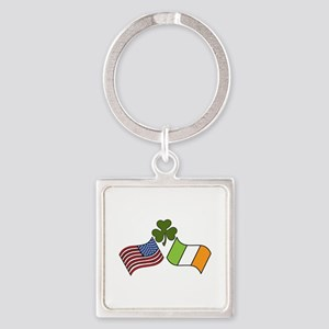 American Irish Flag Keychains