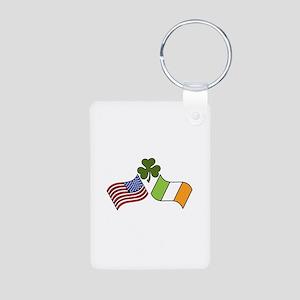 American Irish Flag Keychains