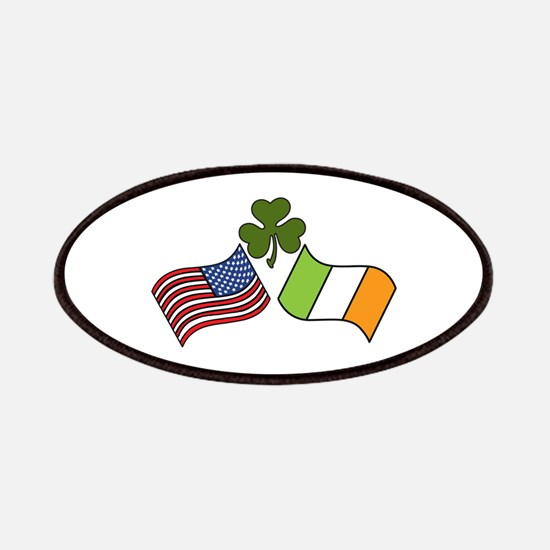 American Irish Flag Patches