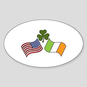 American Irish Flag Sticker