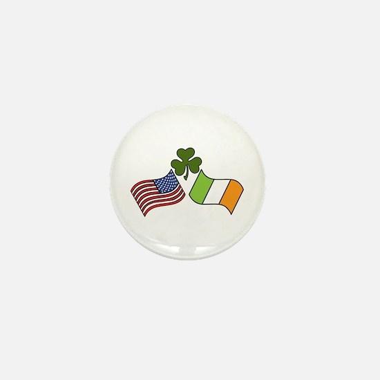 American Irish Flag Mini Button