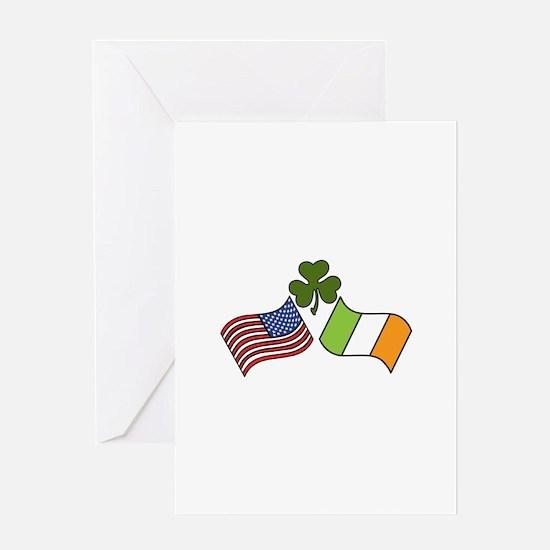 American Irish Flag Greeting Cards