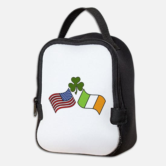 American Irish Flag Neoprene Lunch Bag