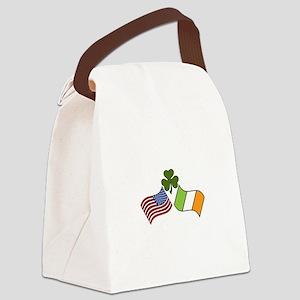 American Irish Flag Canvas Lunch Bag