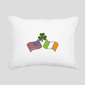 American Irish Flag Rectangular Canvas Pillow