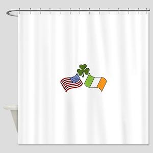 American Irish Flag Shower Curtain