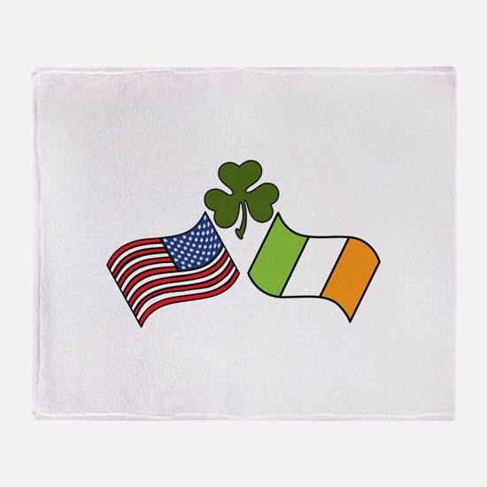 American Irish Flag Throw Blanket