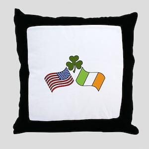 American Irish Flag Throw Pillow