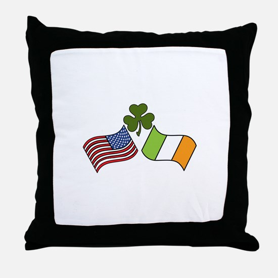 American Irish Flag Throw Pillow