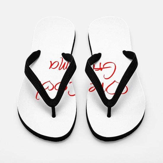 one-cool-grandma-jel-red Flip Flops