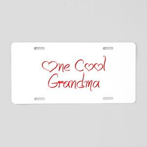 one-cool-grandma-jel-red Aluminum License Plate