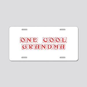 one-cool-grandma-KON-RED Aluminum License Plate