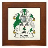 Harris family crest Framed Tiles
