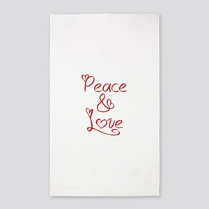 peace-and-love-jel-red 3'x5' Area Rug