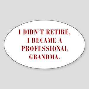 professional-grandma-bod-red Sticker