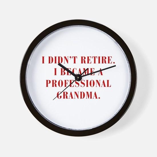 professional-grandma-bod-red Wall Clock