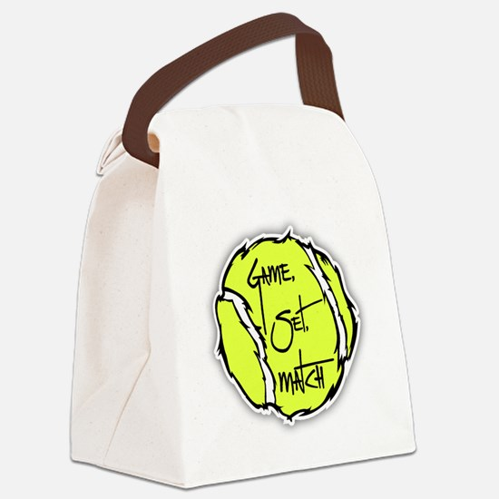 GAME, SET, MATCH Canvas Lunch Bag