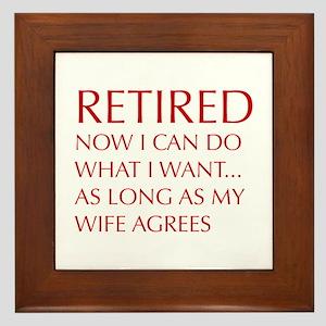 retired-now-I-can-do-opt-red Framed Tile