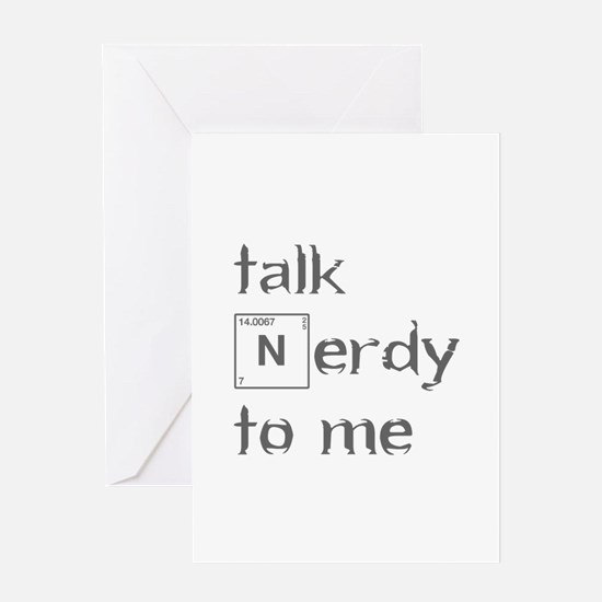 talk-nerdy-to-me-heart-gray Greeting Cards
