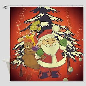Vintage, Santa Claus Shower Curtain