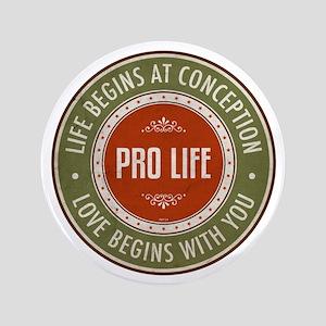 "Pro Life 3.5"" Button"