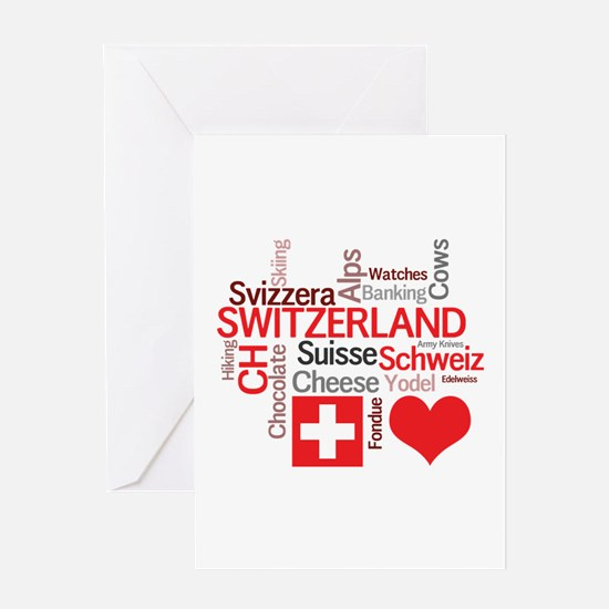 I Love Switzerland Greeting Cards