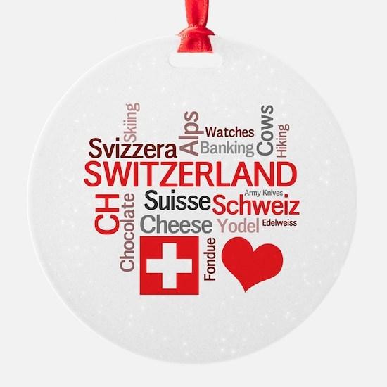 I Love Switzerland Ornament