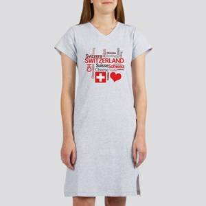I Love Switzerland Women's Nightshirt