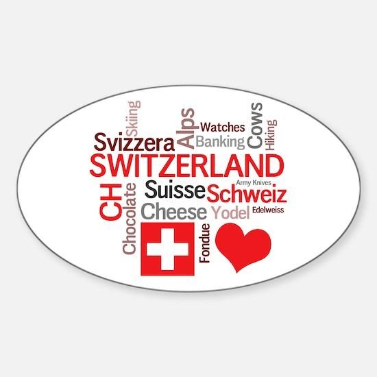 I Love Switzerland Decal