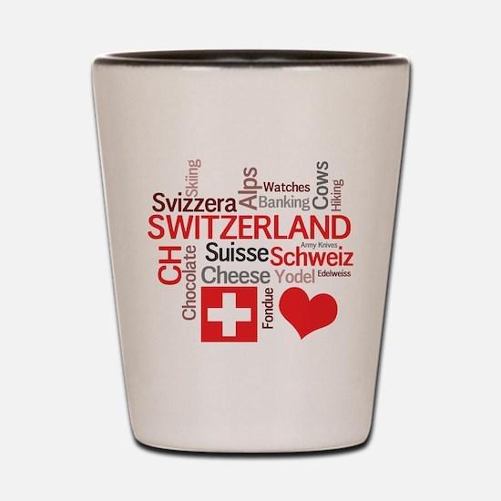 Unique Switzerland Shot Glass