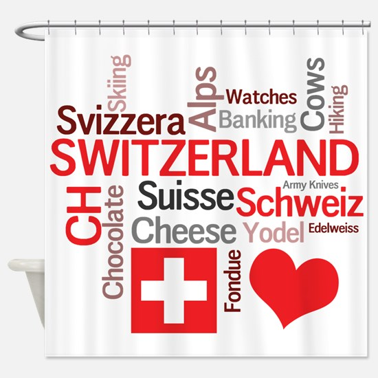 Cute Switzerland Shower Curtain