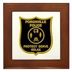 Porchville Police Framed Tile