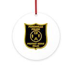 Porchville Police Ornament (Round)