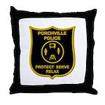 Porchville Police Throw Pillow